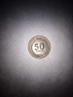 1976 50 Cents coin