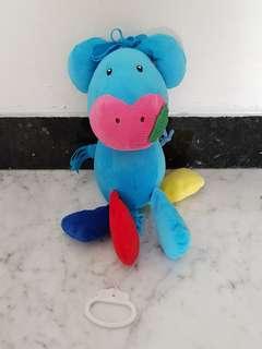 Boneka tarik Musik Mothercare Blue Donkey