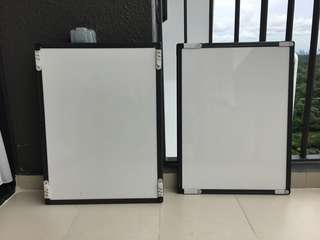 2 x 60x45cm Whiteboard white board - quality, wipeable