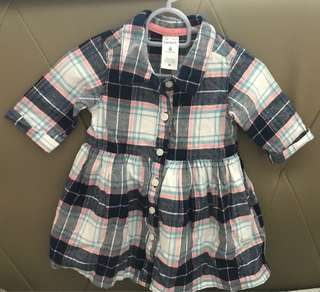Carters Button Dress- Brand New