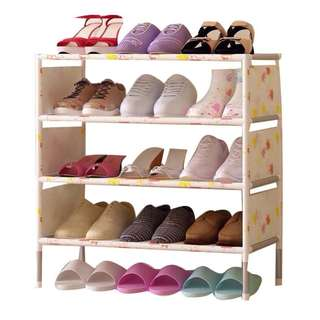 FREESF Stackable 4 - layer shoe rack