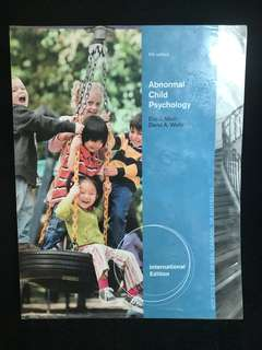 Abnormal child psychology (5th edition)