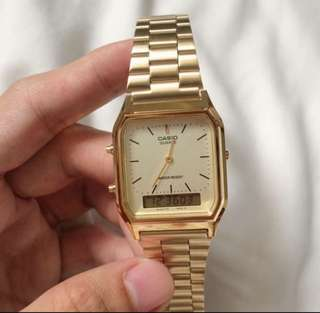 Casio bq230 gold
