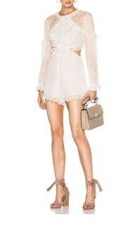 Zimmermann Divinity Scallop Ruffle Playsuit in Ivory