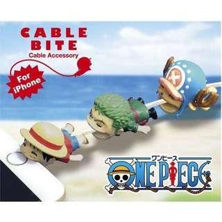 現貨-日本Cable Bite 航海王 海賊王 七龍珠 銀魂 手機充電線保護 充電線套 iphone 魯夫 喬巴 索隆