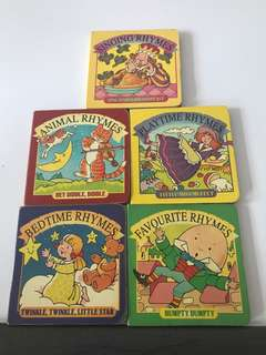 Rhymes board books set of 5