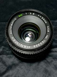 Hanimex 35mm f2.8 m42 mount manual focus lens