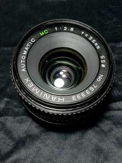 Hanimex 35mm f2.8 m42 mount manual focus lens