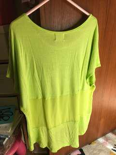 Neon green color t-shirt 螢光綠色上衣