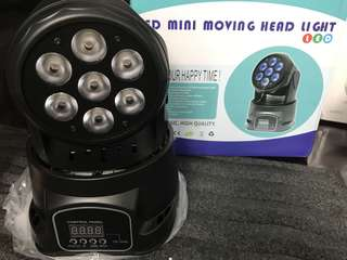 7 LED* 10W / MINI moving head light