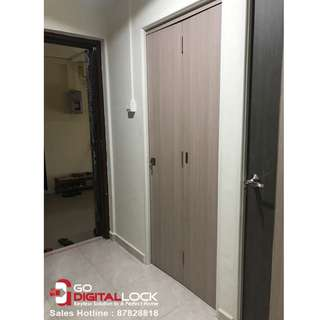 Full Solid Laminate Bi-fold Door for HDB Bedrooms / Toiler Door at $800