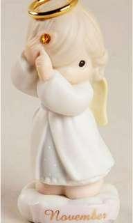 "Precious Moments 陶瓷公仔 ""November"" Figurine 261297、"