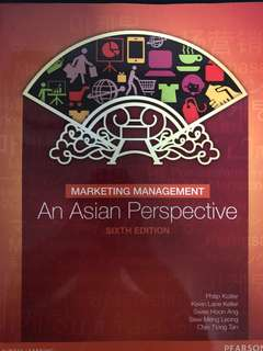 Marketing management : An Asian Perspective, 6th edition textbook