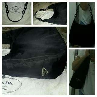 PRELOVED Prada Nylon Shoulder Bag