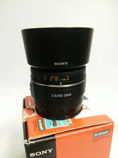 Sony 85mm f2.8 A mount