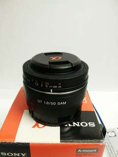 Sony 50mm f1.8 sam A mount