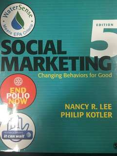 BU8542 Social Marketing 5th Edition: Changing Behaviours for Good