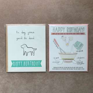 TYPO Birthday Cards