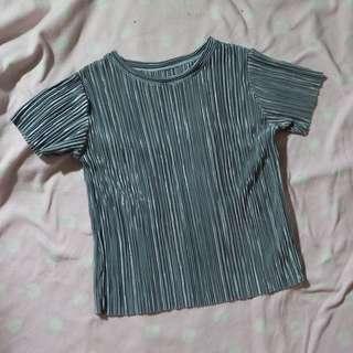 Gray/ Silver Metallic Shirt