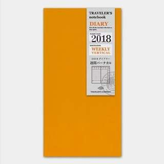 [DISCOUNT] Traveler's Company 2018 Refill Diary Weekly Vertical