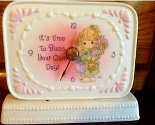 "Precious Moments Clock ""It's Time To Bless Your Own Day"" 102926"