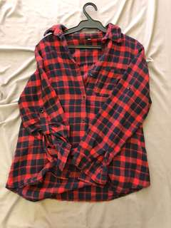 Plaid Polo Top