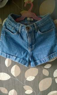 Denim High waist Short