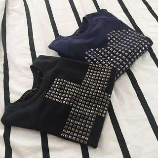 Forever 21 Stud Sweater