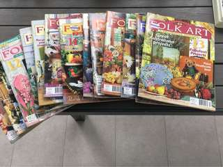 🚚 Folk art magazines