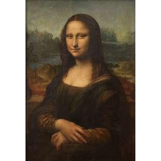 🚚 MONA LISA By Leonardo Da Vinci. A2 Art Print.