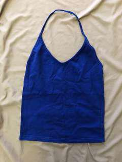 Royal Blue Halter Top