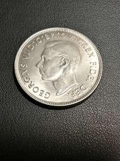 英皇喬治六世 1951年 銀幣