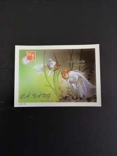 D6  1997香港邮展越南金鱼小全张邮票