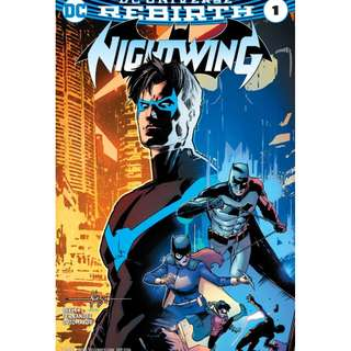 Nightwing #1 - #4 (DC, Batman, Superman, Wonder Woman, Flash, Robin, Harley, Justice League)