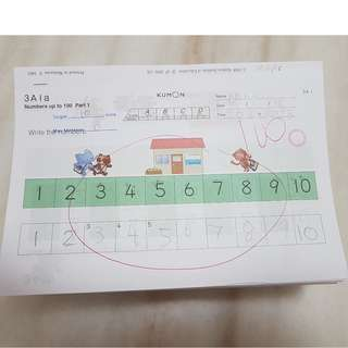 Kumon Maths Sheets (2A1a, 3A1a, 4A1a)