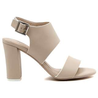 Midas Nougat Leather Heeled Sandal
