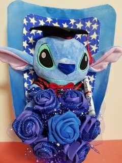 Stitch Graduation Bouquet with Handmade Foam Roses
