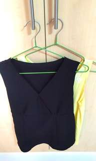 Set of 2 Sleeveless top for only P380~