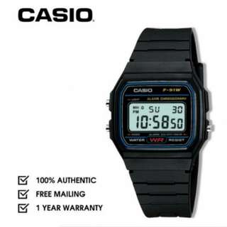 (Free Normal Mail!) Unisex Authentic Casio Digital Or Analog Watches With One Year Local Warranty From Date Of Purchase At Super Cheap Prices For Sale With Many Designs To Choose From So Get Yours Today