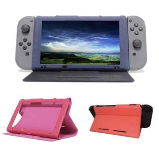 Fashion Cool Case Leather Play Stand For Nintendo Switch