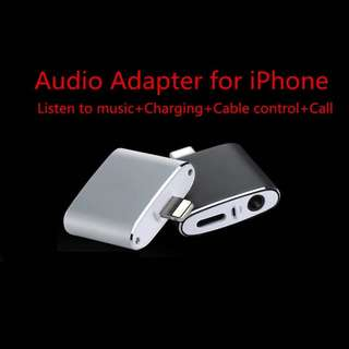 Audio charger adaptor cable cord AUX 3.5mm iphone