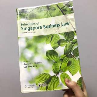 Principles of Singapore Business Law Textbook