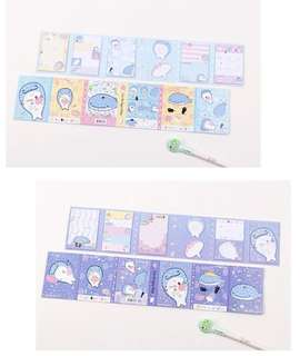 San x jinbesan cute open up notepad booklet