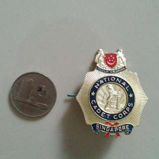 Singapore National Cadet Corps Pin Badge Vintage