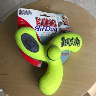 Kong AirDog Interactive Tennis Fetch Toy Squeaker Spinner
