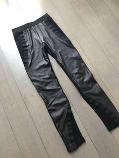 BCBG faux leather legging