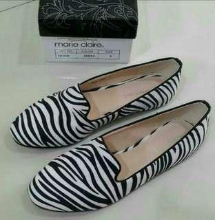 Marie Claire Zebra Flat Shoes