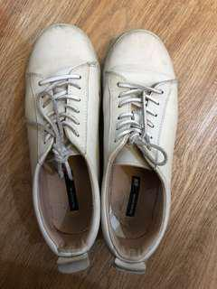 H&M White Sneakers Leather
