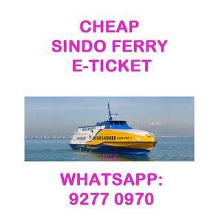 🚚 CHEAP Sindo Ferry E-tickets by Trustworthy Seller