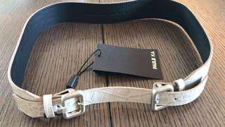 全新Paule Ka 皮帶一條 (size 2, 23-24吋腰)